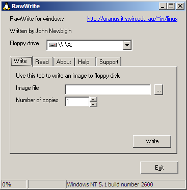 chrysocome net - RawWrite for Windows